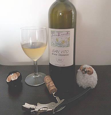 San Vito 2014 Valli Unite Timorasso doc Colli Tortonesi calice e bottiglia