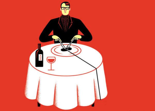 a proposito di critica gastronomica critico che mangia a tavola da solo