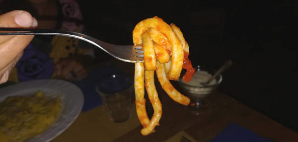 ndurciullune abruzzese forchettata