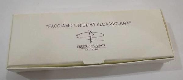 Facciamo un oliva all'ascolana scatola olive chiusa