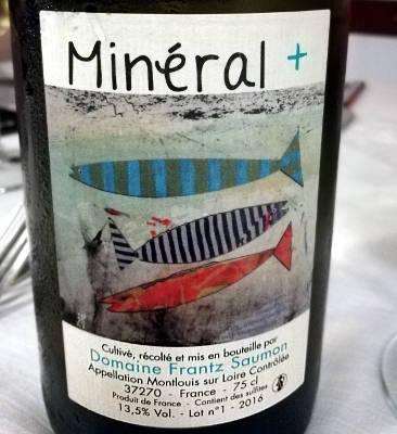 Mineral + 2016 domaine frant saumon etichetta