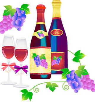 vino novello scomparso bottiglie e grappoli