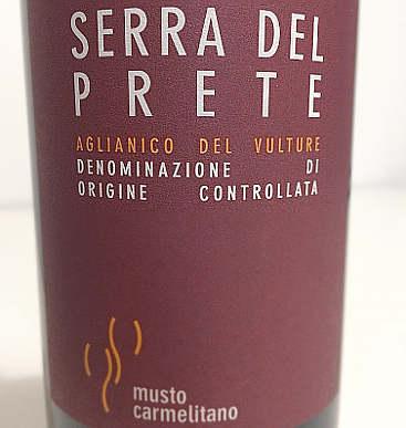 Serra del prete 2012 Musto Carmelitano etichetta fronte