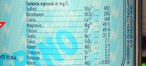 lo strozio acque minerali etichetta 3