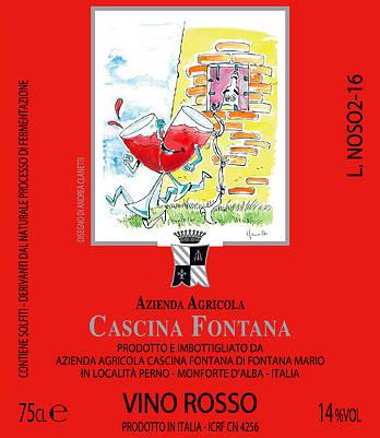 Cascina Fontana Vino rosso etichetta fronte bottiglia