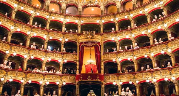 Considerazioni su cibo nostrum 2019 teatro bellini di catania con cuochi nei palchi