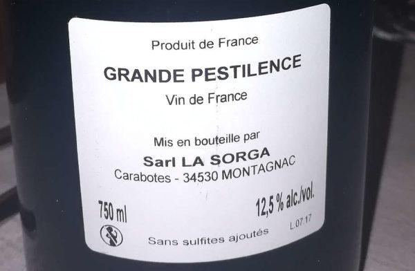 Grande pestilence 2017 vin de france etichetta retro bottiglia