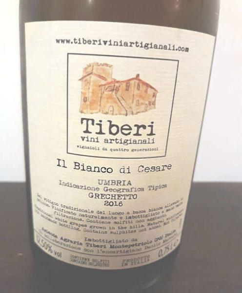 Il bianco di Cesare Tiberi grechetto umbria vino artigianale Etichetta