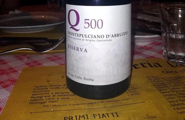 Q500 Montepulciano DOC riserva 2011 etichetta