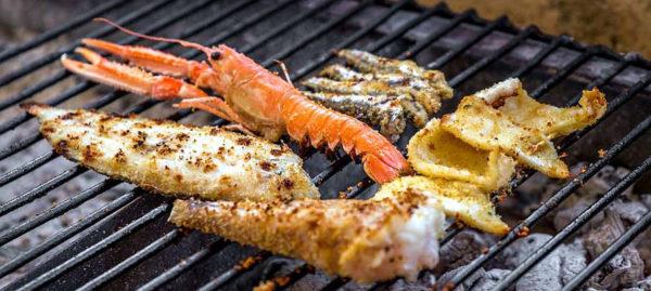 grigliata di pesce mista scampi calamari alici