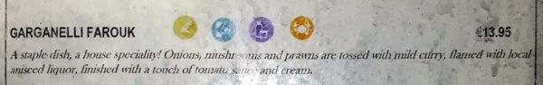 Pasta alla faruk ingredienti tratti da un menù