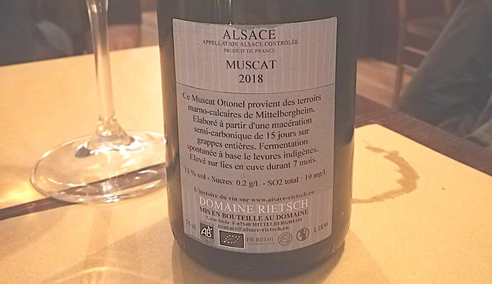 Murmure Muscat 2018 etichetta retro bottiglia con calice