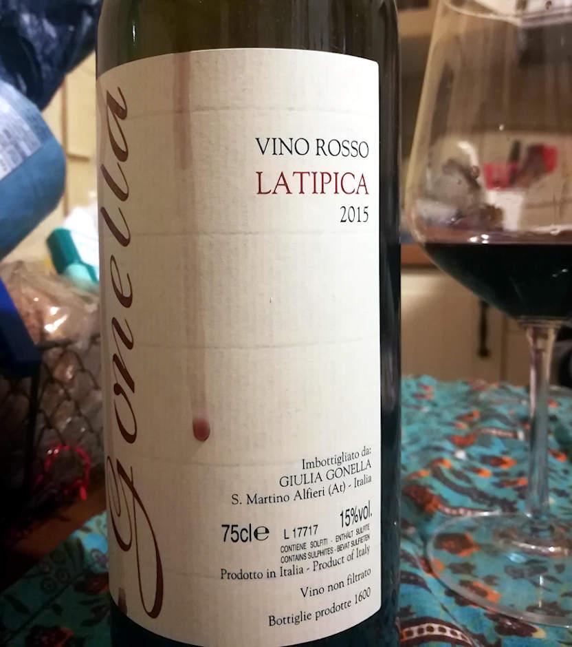 LaTipica 2015 Gonella vino rosso etichetta e bottiglia