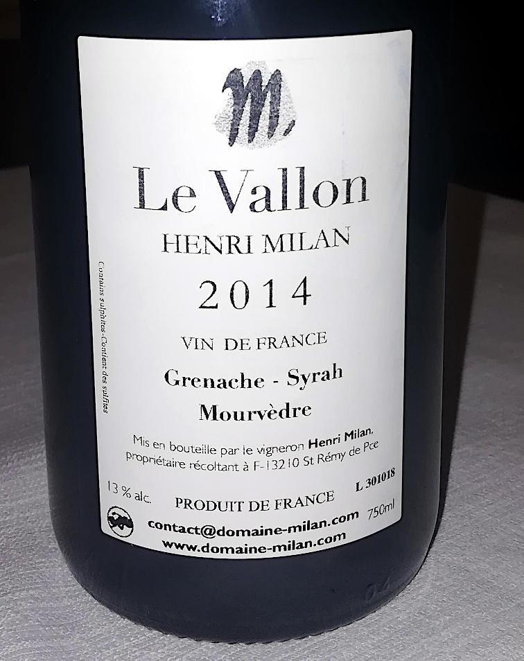 Le Vallon 2014 Henri milan etichetta retro