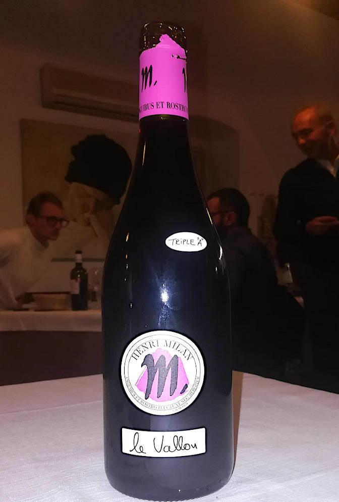 Le vallon 2014 Henri Milan bottiglia etichetta fronte