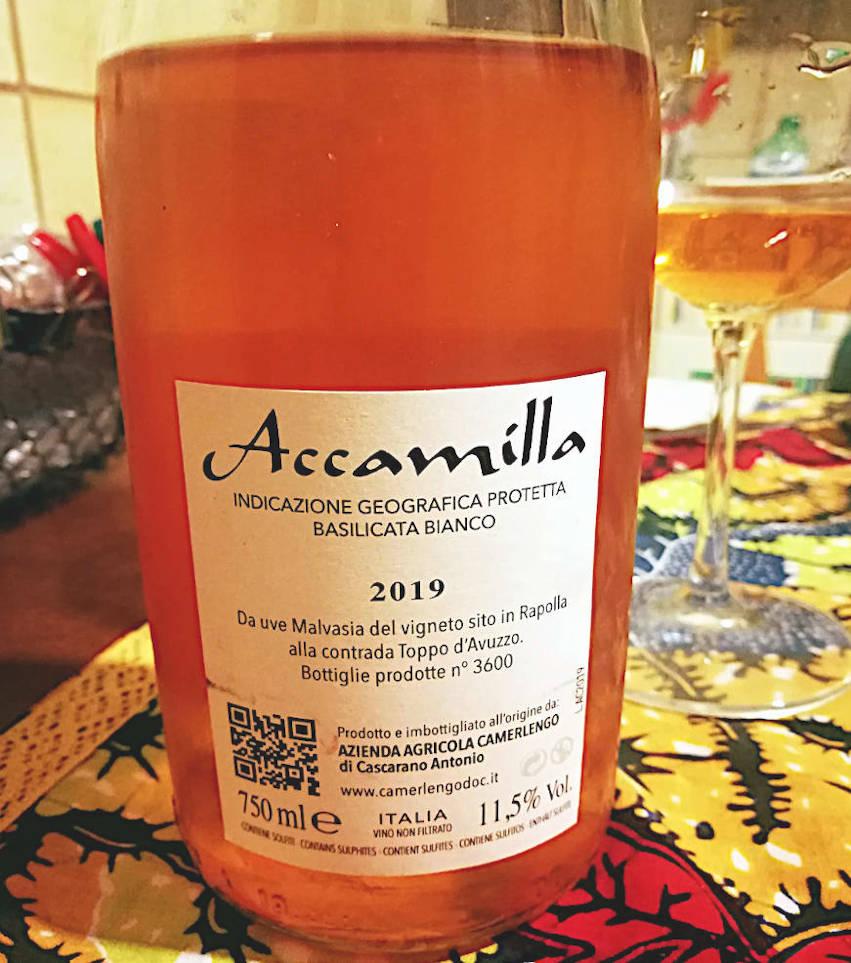 Accamilla 2019 Camerlego etichetta retro