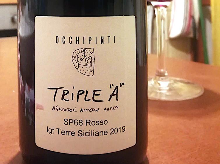 SP68 Rosso IGT 2019 di Arianna Occhipinti etichetta retro