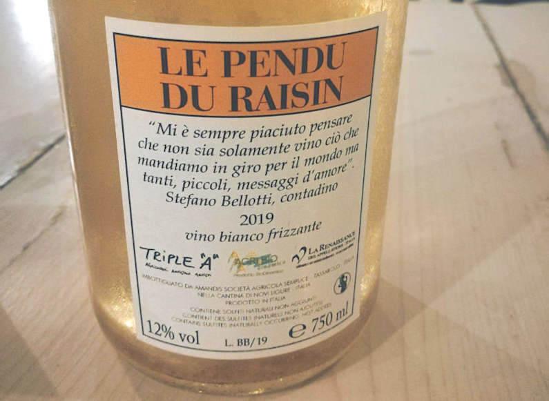 le pendu du raisin 2019 etichetta retro cascina degliulivi vino naturale