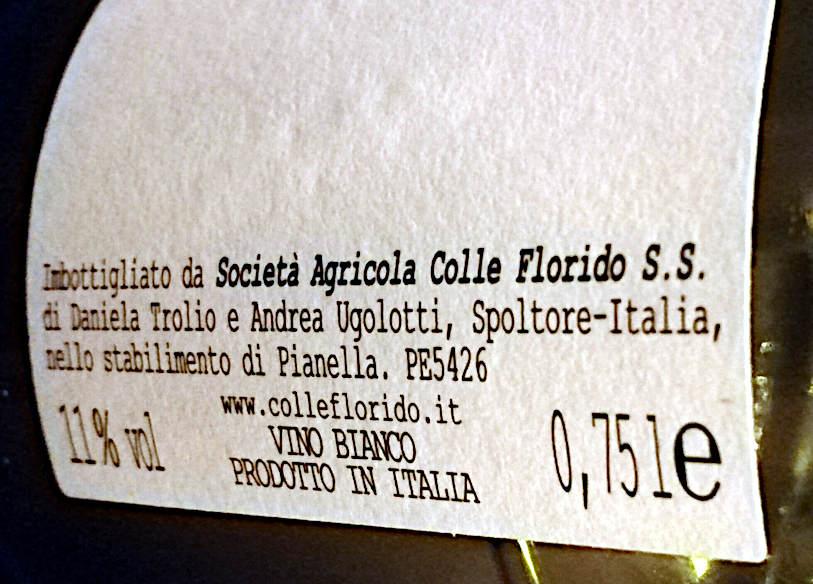 Il Postino 2019 etichetta società agricolo colle florido Pianella